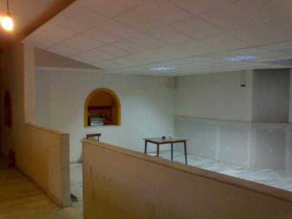 Εργασίες στη κατακόμβη του ναού Αγίου Νεκταρίου όπου φιλοξενούμαστε