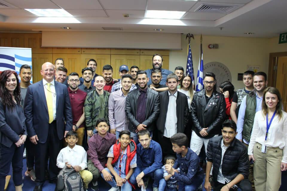 O Φάρος του κόσμου στην Αμερικάνικη Πρεσβεία
